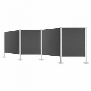 Set 4 panouri prezentare fixe, 1200x1500mm, dubla fata gri, MAGNETOPLAN - ACOMI.ro