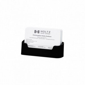 Suport carti de vizita negru, 96x45x20mm, MAGNETOPLAN  - ACOMI.ro