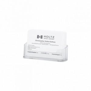 Suport carti de vizita transparent, 96x45x20 mm, MAGNETOPLAN - ACOMI.ro