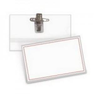 Ecuson plastic cu hartie inserata 54x90mm, FORPUS - ACOMI.ro