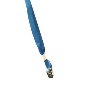 Snur textil cu clip pentru buzunar ecuson, lungime 85 cm, albastru, ACM BRAND - ACOMI.ro