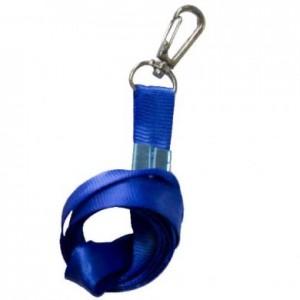 Snur textil cu carabina pentru buzunar ecuson, albastru, ACM BRAND - ACOMI.ro