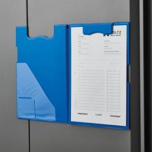 Clipboard magnetic dublu, albastru, MAGNETOPLAN - ACOMI.ro