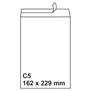 Plic C5 (162x229mm) siliconic alb, unitar, RKV - ACOMI.ro