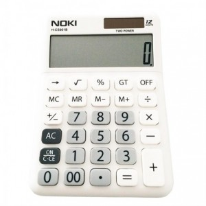 Calculator de birou, 12 digits, NOKI - alb