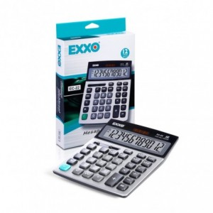 Calculator 12 digits, 146 x 104mm, EXXO dual power · ACOMI.ro