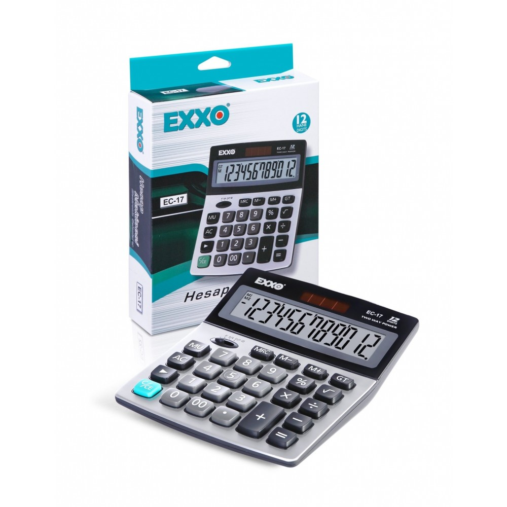 Calculator 12 digits, 158 x 132mm, EXXO  dual power · ACOMI.ro