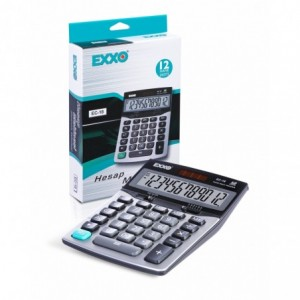 Calculator 12 digits, 178 x 126mm, EXXO dual power · ACOMI.ro