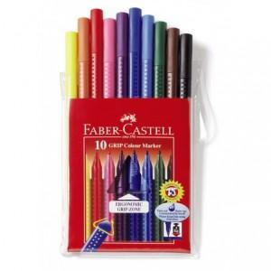 Carioca 10 culori/etui plastic, Grip Faber-Castell - ACOMI.ro