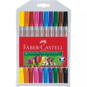 Carioca 10 culori/set, 2 capete, Faber-Castell - ACOMI.ro