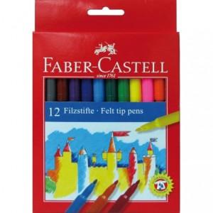 Carioci 12 culori/set, Clasic Faber-Castell - ACOMI.ro