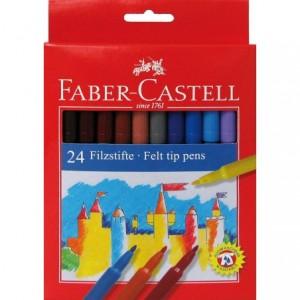 Carioci 24 culori/set, Clasic Faber-Castell - ACOMI.ro