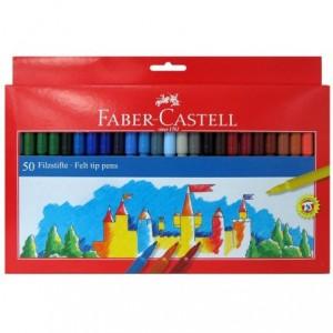 Carioci 50 culori/set, Clasic Faber-Castell - ACOMI.ro