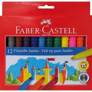 Carioca 12 culori/set, Jumbo Faber-Castell - ACOMI.ro