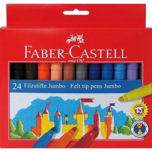 Carioca 24 culori/set, Jumbo Faber-Castell - ACOMI.ro