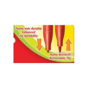 Carioci cu varf retractabil, 24 culori/set, Faber-Castell - ACOMI.ro