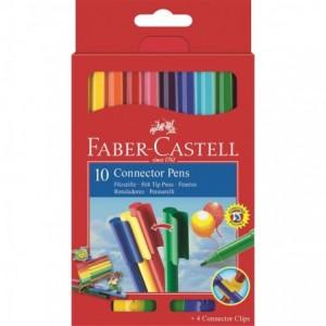 Carioca Connector, 10 culori/set, Faber-Castell - ACOMI.ro