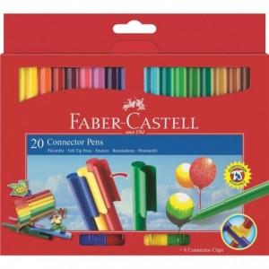 Carioca Connector, 20 culori/set, Faber-Castell - ACOMI.ro