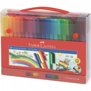 Carioca 60 culori/set Connector Cut Faber-Castell - ACOMI.ro