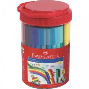 Carioca 50 culori/set Connector Faber-Castell - ACOMI.ro