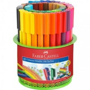 Carioca 45 culori/set, suport Mesh, Connector Faber-Castell - ACOMI.ro