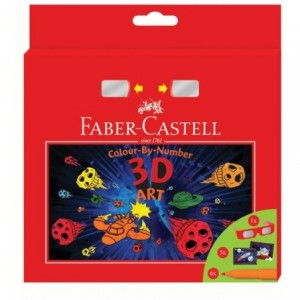 Cadou 6 carioci/set Connector 3D Art Faber-Castell - ACOMI.ro