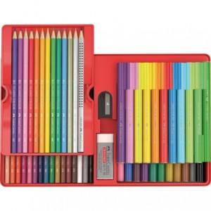Cadou 53 buc/set carioci si creioane Connector Faber-Castell - ACOMI.ro