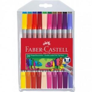 Carioca 20 culori/set, 2 capete, Faber-Castell - ACOMI.ro