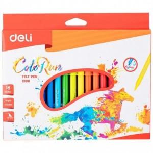 Carioci 18 culori/set Deli - ACOMI.ro