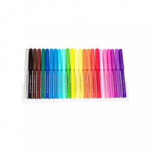 Carioci 24 culori/set Deli - ACOMI.ro