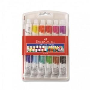 Tempera 12 culori/set, 12 ml, Faber-Castell - ACOMI.ro