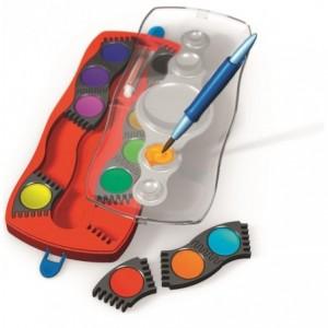 Acuarele 12 culori/cutie plastic, Connector Faber-Castell - ACOMI.ro