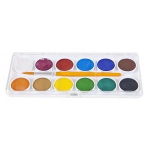 Acuarele cu pensula, 12 culori/set Economy Adel - ACOMI.ro