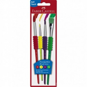 Pensule 4 buc/set Soft Touch  Faber-Castell - ACOMI.ro