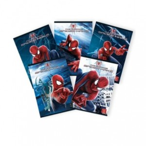 Caiet A5 48 file, matematica, licenta Spiderman Pigna - ACOMI.ro