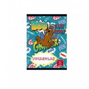 Caiet capsat 12x17cm 24 file, Vocabular Scooby Doo Pigna - ACOMI.ro