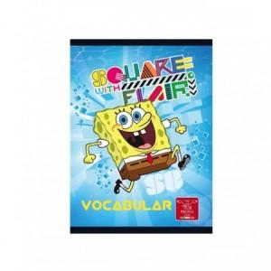 Vocabular capsat 12x17cm 24 file, Sponge Bob Pigna - ACOMI.ro