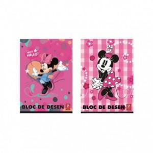 Bloc Desen A4 16 file, 160g, Premium Minnie Pigna - ACOMI.ro