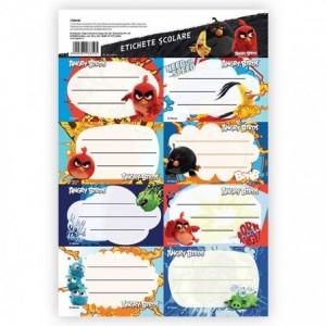 Etichete scolare 40 buc/set Angry Birds Pigna - ACOMI.ro