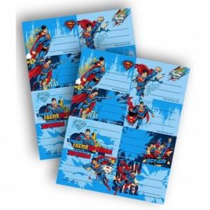 Etichete scolare 40 buc/set Superman Pigna - ACOMI.ro