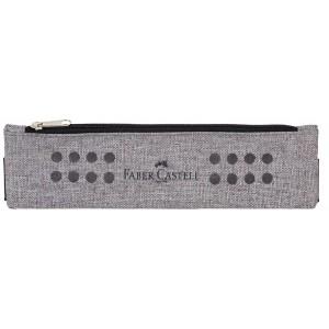 Penar tip Etui cu elastic, gri melange, Grip Faber-Castell - ACOMI.ro