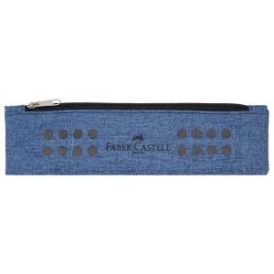 Penar tip Etui cu elastic, albastru melange, Grip Faber-Castell - ACOMI.ro
