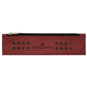Penar tip Etui cu elastic, rosu marsala melange, Grip Faber-Castell - ACOMI.ro
