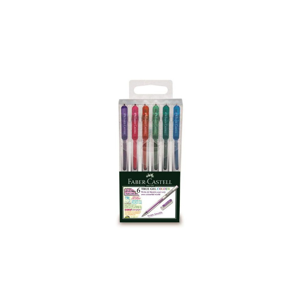 Pix 0.7mm, 6 buc/set, True Gel Faber-Castell