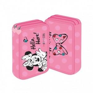 Penar neechipat 2 fermoare, roz, Minnie Mouse Pigna - ACOMI.ro