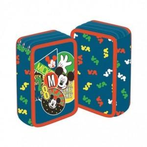 Penar neechipat 3 fermoare, gri, Mickey Mouse Pigna - ACOMI.ro