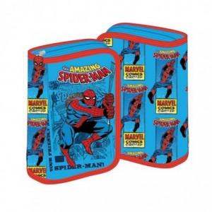 Penar neechipat cu fermoar, bleu cu rosu, Spiderman Pigna - ACOMI.ro