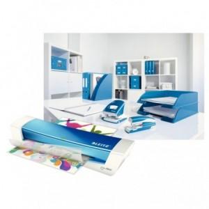 Laminator A4, albastru metalizat, LEITZ iLAM Home Office - ACOMI.ro