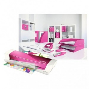Laminator A4, roz metalizat, LEITZ iLAM Home Office - ACOMI.ro