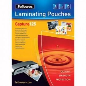 Folie de laminare A6, 125 microni, 100 buc/top, Fellowes - ACOMI.ro